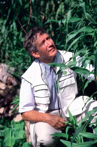 Mark Nelson in Biosphere 2, 1991-1993.