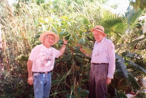 Standing with Prof. H.T. Odum, father of ecological engineering, in front of the first Wastewater Gardens in Akumal, Yucatan coast, Mexico, 1997. These systems were studied for my Ph.D. at the University of Florida and were the start of Wastewater Gardens International, implementing the eco-technologies in 14 countries.