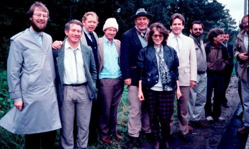 Some of the speakers at the 2nd International Conference on Closed Ecological Systems hosted by the Institute of Biophysics, Krasnoyarsk, Siberia, 1989.
