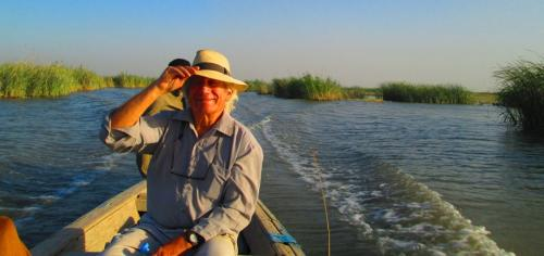 Mark on an inspection of the southern Iraqi marshes, 2011, in conjunction with the Eden in Iraq project, an art-ecology demonstration venture to bring ecological wastewater treatment to the Marsh Arabs living in the restored marshes.